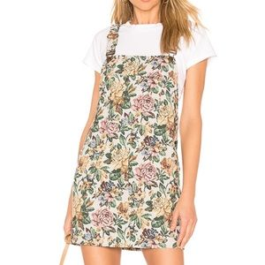 House of Harlow Rose Print Overall Dress